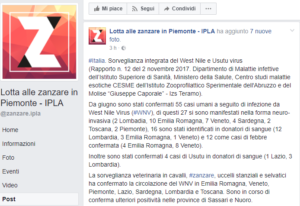 Lotta alle zanzare in Piemonte IPLA Post